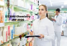 IIT BHU Chemistry JRF 2020 - Application Details