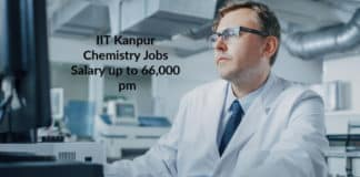 IIT Kanpur Chemistry Jobs - Project Scientist Salary up to 66,000 pm