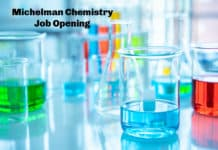 Michelman Chemistry Job Opening - Scientist Post