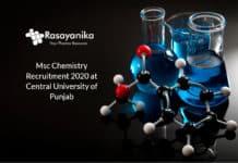 Msc Chemistry Recruitment 2020
