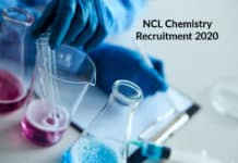 NCL Chemistry Recruitment 2020 - Project Assistant Post
