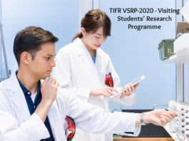 TIFR VSRP-2020 - Visiting Students' Research Programme