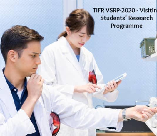 TIFR VSRP-2020 - Visiting Students' Research Programme