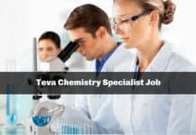 Teva Chemistry Specialist Job Opening - Apply