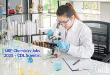 USP Chemistry Jobs 2020 – CDL Scientist Post