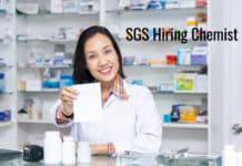 SGS Bsc Chemistry Job Opening 2020 - Chemist Post