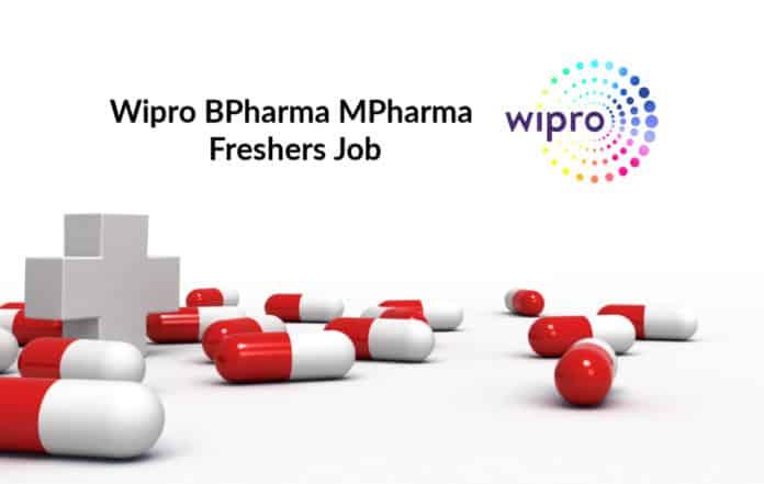 Wipro BPharma MPharma Freshers Job