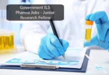 Government ILS Pharma Jobs - Junior Research Fellow