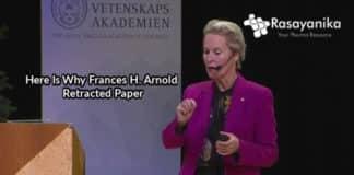 Chemistry Nobel Laureate Frances H. Arnold Retracts Paper