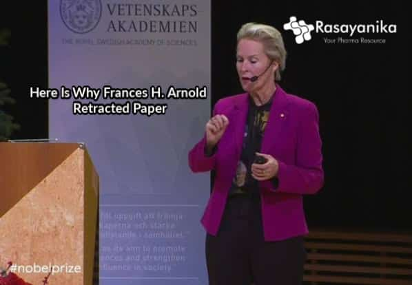 Chemistry Nobel Laureate Frances H. Arnold Retracts Paper