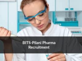BITS-Pilani Pharma Recruitment 2020 - Application Details