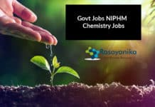 Govt Jobs NIPHM Hiring Chemistry Candidates - Apply Now