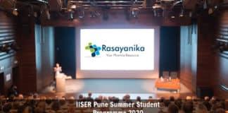 IISER Pune Summer Student Programme 2020 - Chemistry