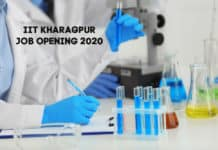 IIT Kharagpur Research Fellow Recruitment 2020 – Chemistry