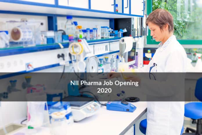 NII Pharma Recruitment 2020 – Project Assistant Post Vacancy