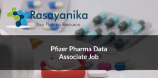 Pfizer Pharma Data Associate Job Opening - Apply Online