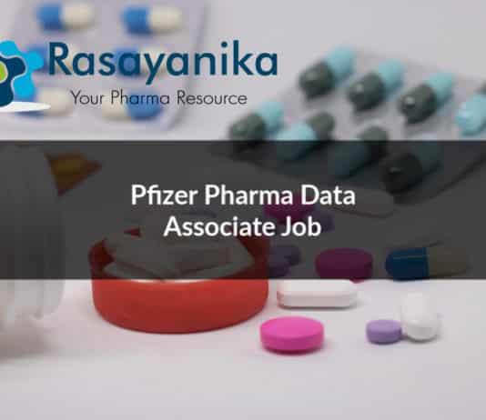 Pfizer Pharma Data Associate Job Opening - Apply Online