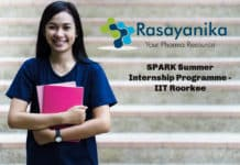 SPARK Summer Internship Programme - IIT Roorkee With Stipned 2500/per week
