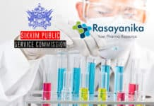 Govt Chemistry & Pharma Scientific Officer - Sikkim Public Service Commission