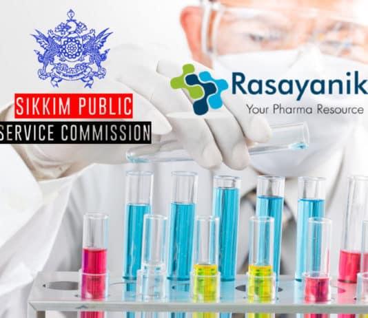Govt Chemistry & Pharma Scientific Officer - Sikkim Public Service Commission
