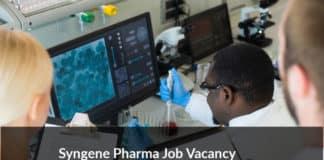 Syngene Pharma Recruitment 2020 - Sr Research Associate