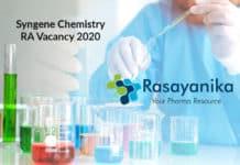 Syngene Chemistry RA Vacancy 2020 - Apply Now