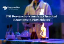 Analyzing chemical reactions in particulates