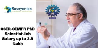 CSIR-CIMFR PhD Scientist Job Opening 2020 – Chemistry Salary up to 2.9 Lakh
