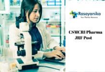 CSMCRI Pharma JRF Post Vacancy - Application Details
