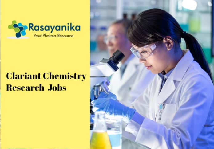 Clariant Chemistry Research Associate Post Vacancy - Apply Now