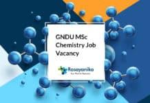 GNDU MSc Chemistry Job Vacancy - Junior Research Fellow