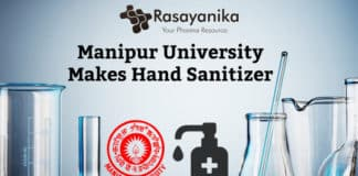 Manipur University's Chemistry Department Makes Hand Sanitizer For its Community