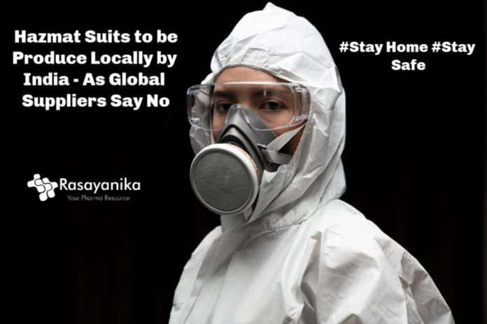 Hazmat Suits to be Produce Locally by India - As Global Suppliers Say No
