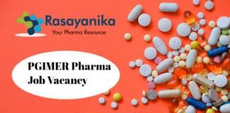 PGIMER Pharma Research Recruitment - Application Details