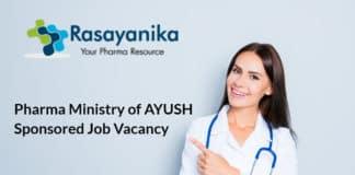 Pharma Ministry of AYUSH Sponsored Job Vacancy - Jamia Hamdard
