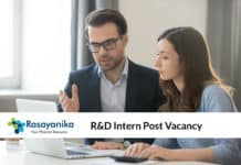Teva Research Intern Post Vacancy - Pharma Chemistry Candidates Apply