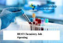 IIEST Chemistry Job Opening 2020 - Junior Research Fellow