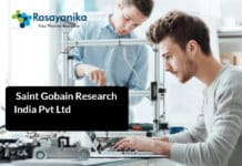 Chemistry Research Engineer Post @ Saint Gobain Research India Pvt Ltd