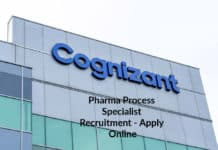 Cognizant Pharma Process Specialist Recruitment - Apply Online
