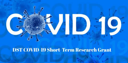 DST COVID-19 Short-Term Research Grant - Applications Invited