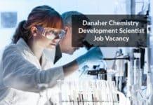 Danaher Chemistry Development Scientist Job Vacancy - Apply Online