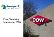 Dow Chemistry Internship - Chemical process/equipment design