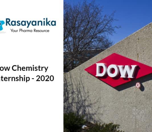 Dow Chemistry Internship - Chemical process/equipment design