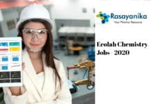 Ecolab Chemistry Recruitment 2020 - Application Engineer Job