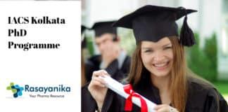 IACS Kolkata PhD Programme Announced - Application Details