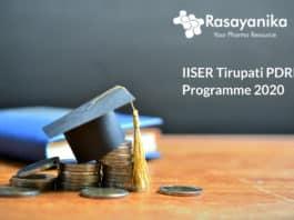 IISER Tirupati PDRF Programme 2020 - Application Details