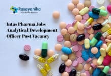 Intas Pharma Jobs - Analytical Development Officer Post Vacancy