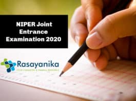NIPER JEE 2020 – NIPER Joint Entrance Examination 2020 for MSc & PhD Candidates