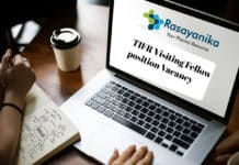 TIFR Visiting Fellow position Vacancy - Salary Up to Rs. 40,000/-
