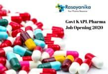 Govt KAPL Pharma Job Opening 2020 – Application Details